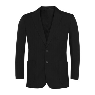 Black Polyester Blazer for Boys