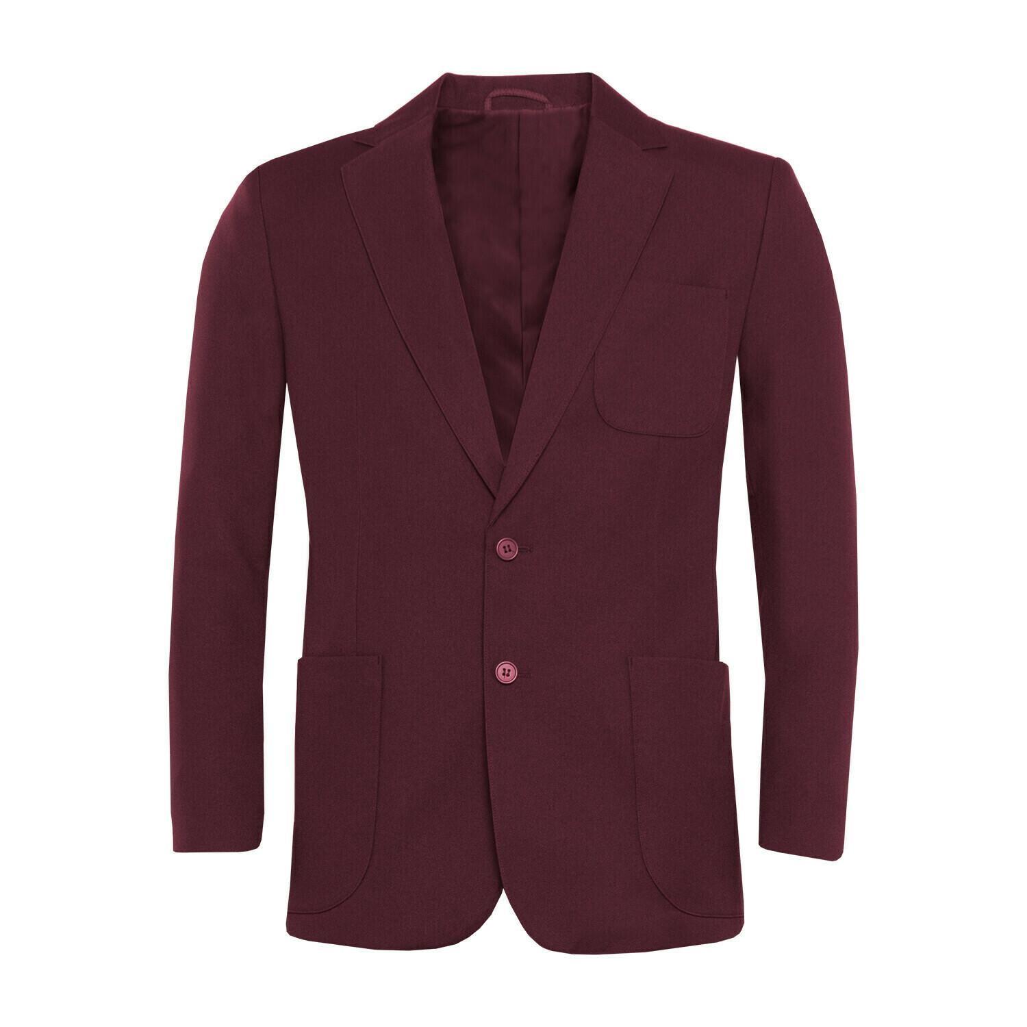 Maroon Polyester Blazer for Boys
