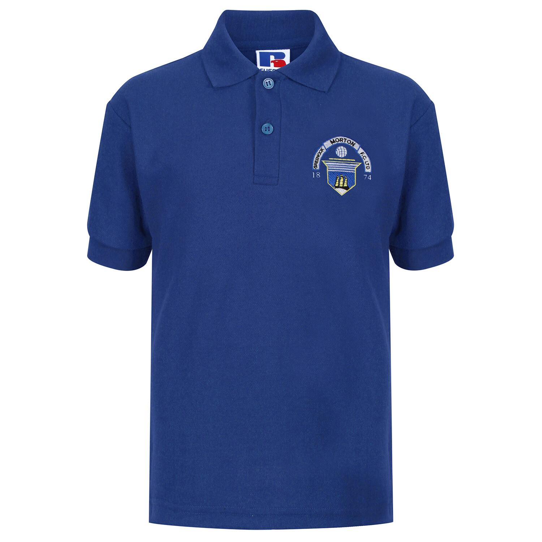 Morton 'Club Crest' Polo Shirt (In Royal)