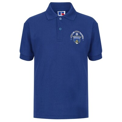 Morton 'Club Crest' Polo Shirt (In Royal)