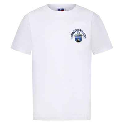 Morton 'Club Crest' T-Shirt (In White)