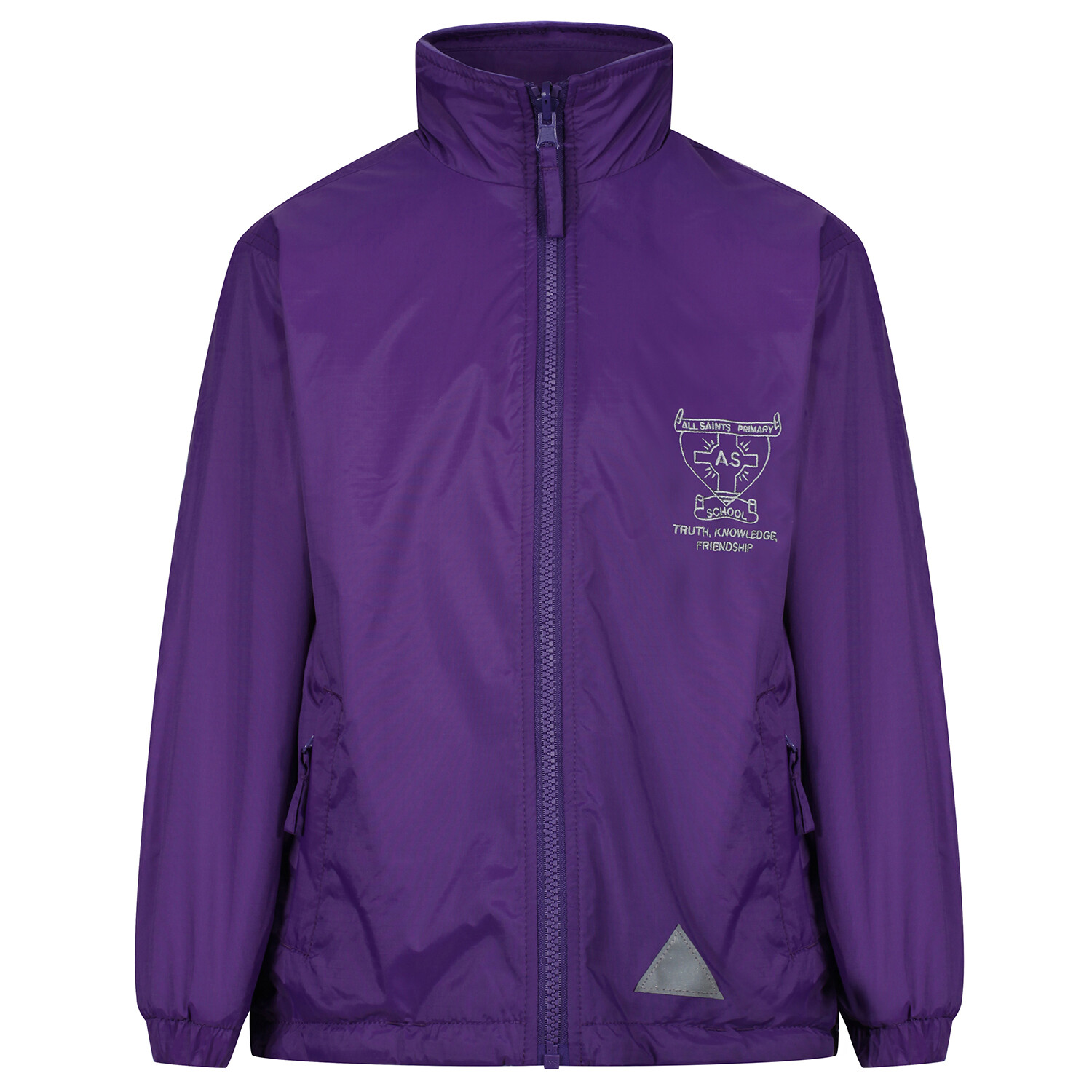 All Saints Primary 'Lightweight' Rain Jacket (Fleece lined)