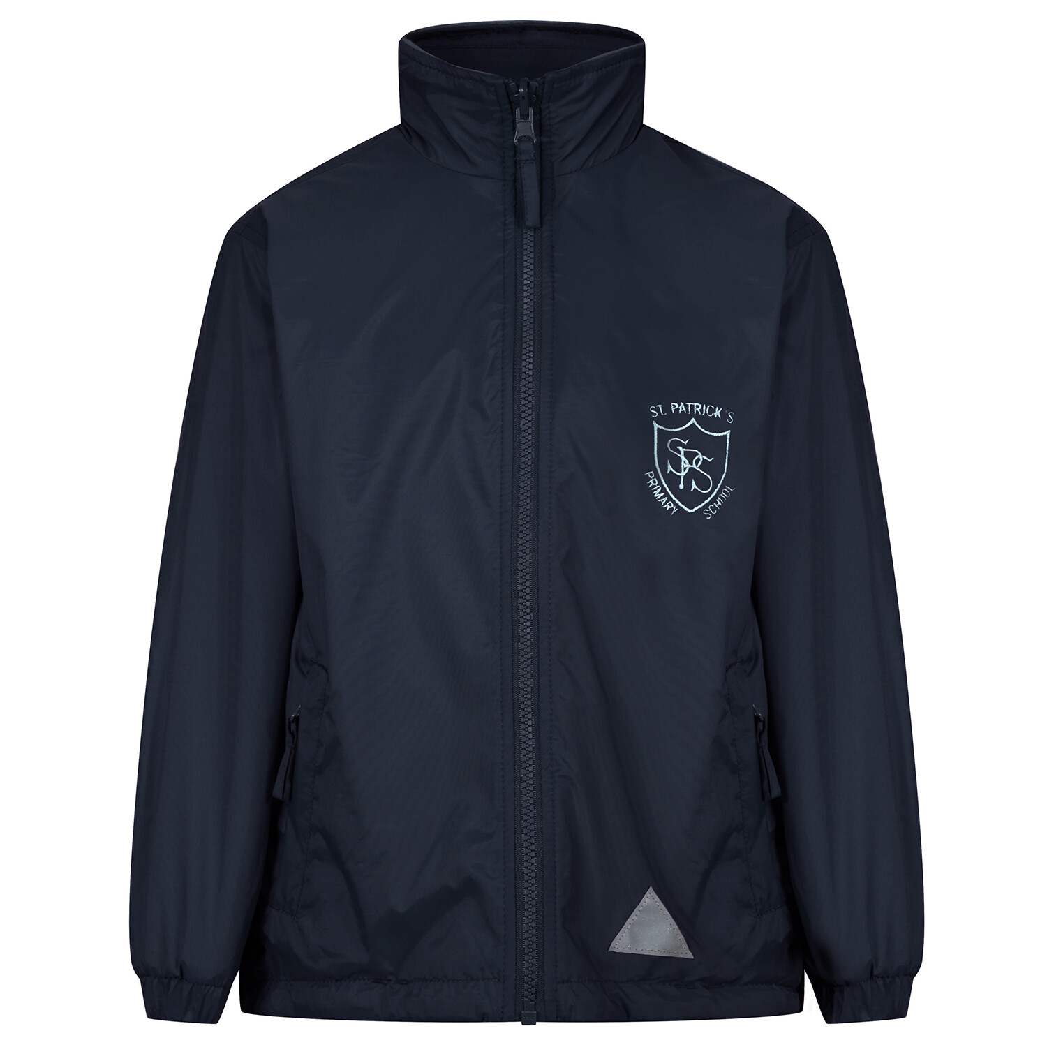 St Patrick's Primary 'Lightweight' Rain Jacket (Fleece lined)