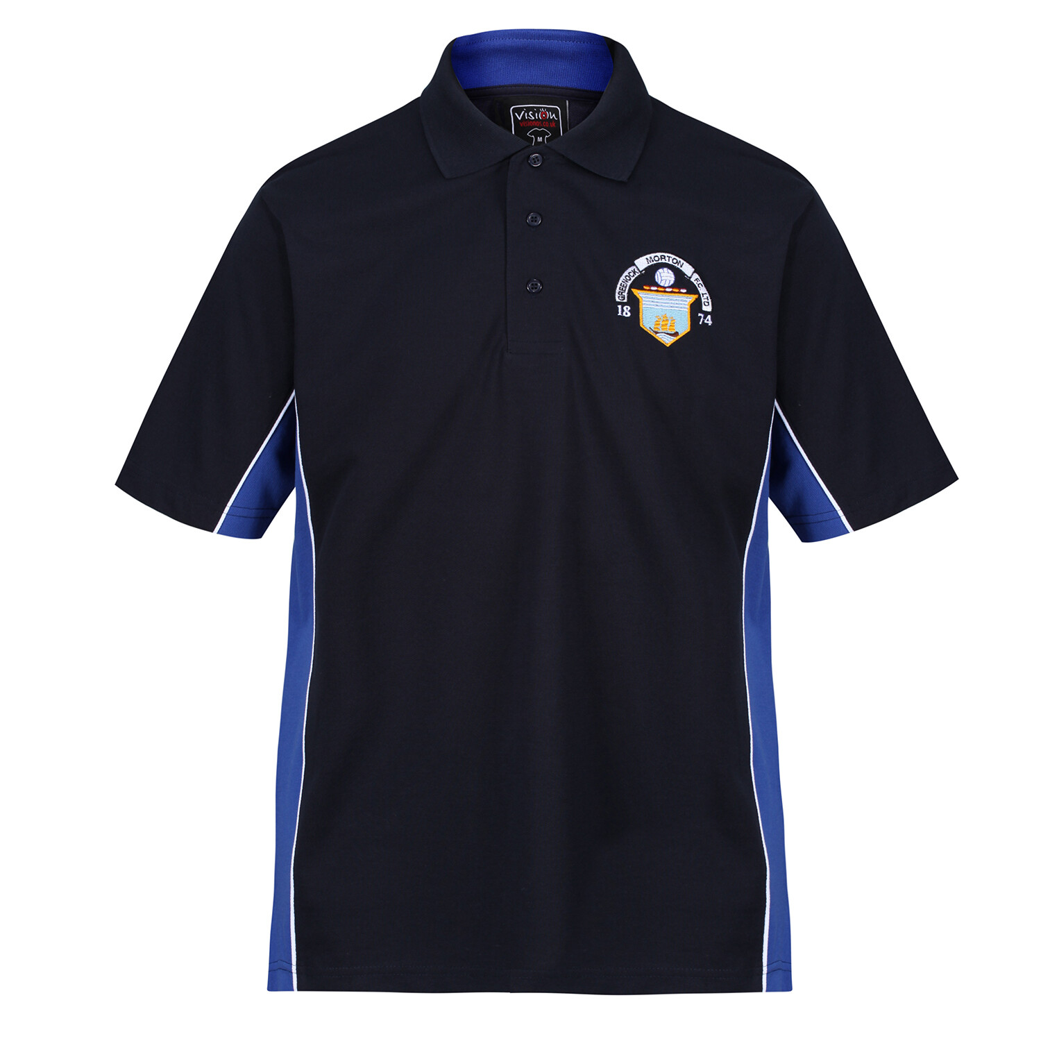 Morton 'Navy-Royal-White' Polo Shirt (RCSKK475)