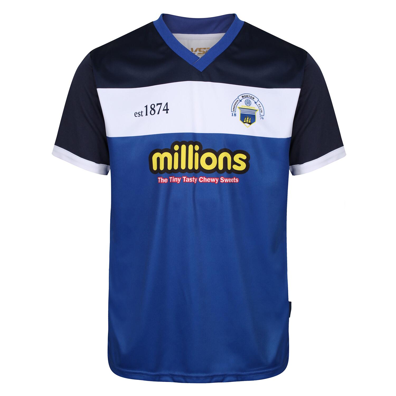 Morton Training T-Shirt (White Band & Royal)