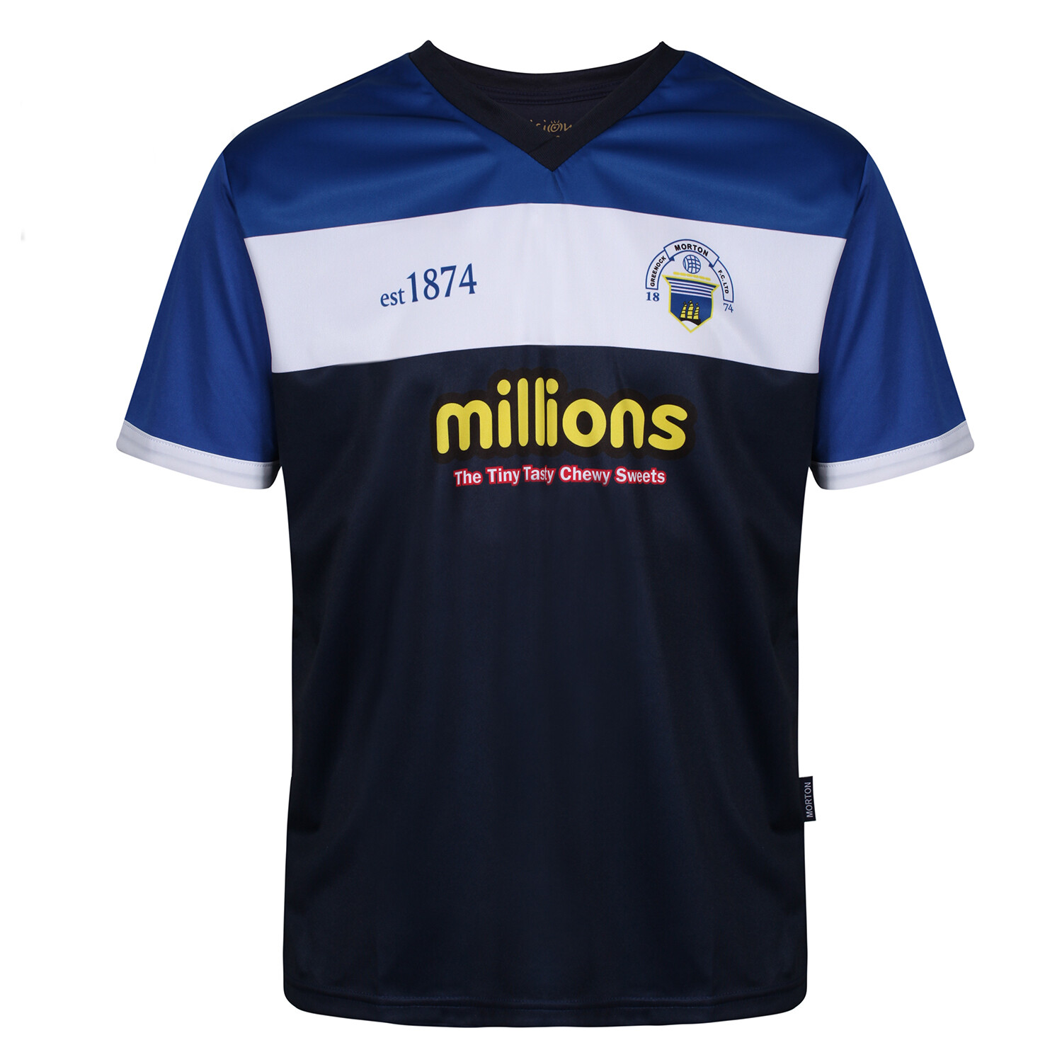 Morton Training T-Shirt (White Band & Navy)