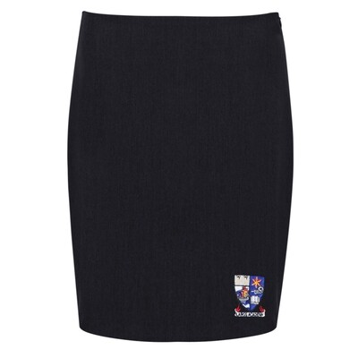 Largs Academy 'Honiton' Hipster Stretch Skirt in Black