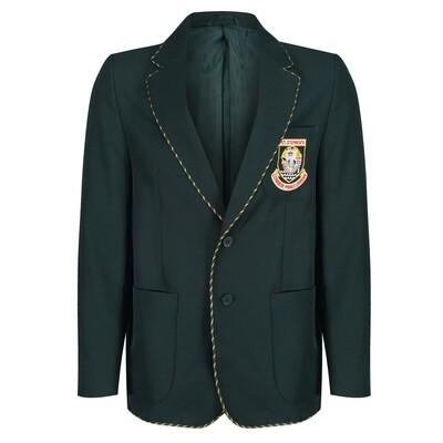 St Stephen's High Blazer for S6 Prefects (Gold & Bottle woven braiding)