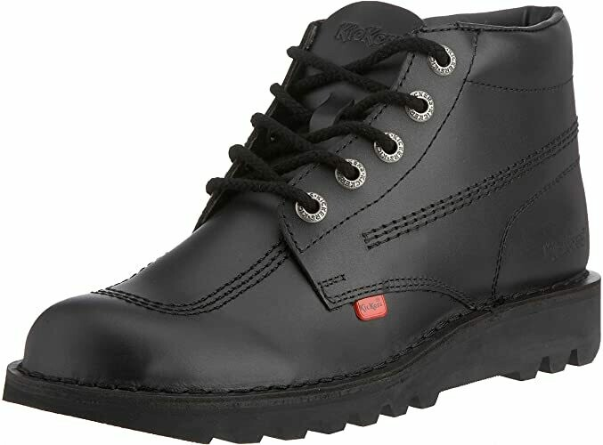 Kickers 'Kick High' Lace in Black Leather SALE!