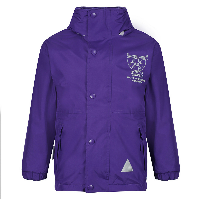 All Saints Primary Staff Heavy Rain Jacket (Fleece lined)