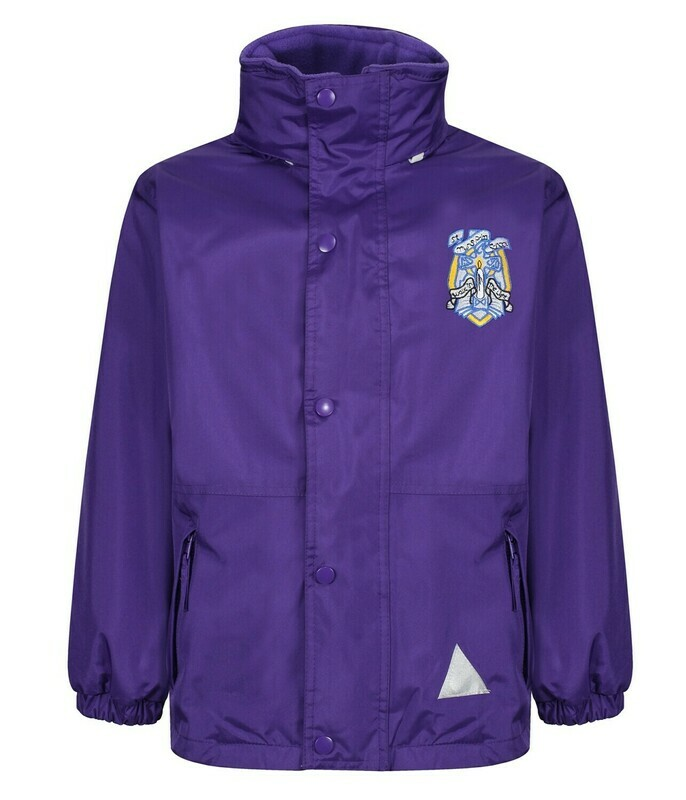 St Muns Primary Staff Heavy Rain Jacket (Fleece lined)