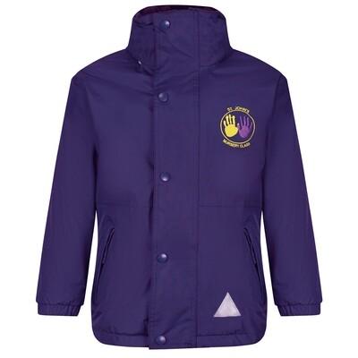 St John's Nursery Staff Heavy Rain Jacket (Fleece lined)