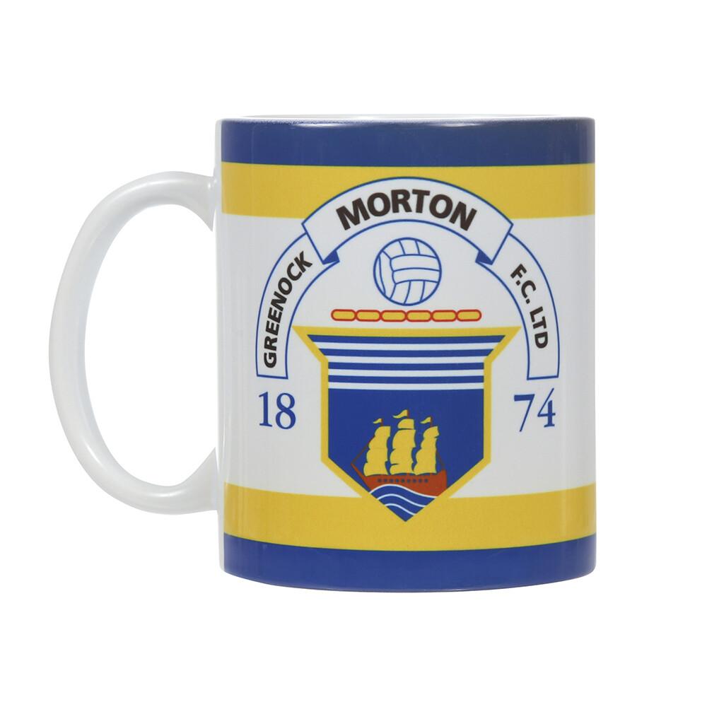 Morton Mug (Club Crest with royal & yellow trim)