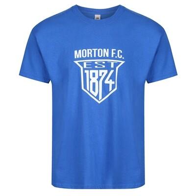 Morton 'EST 1874' T-Shirt (In Royal)