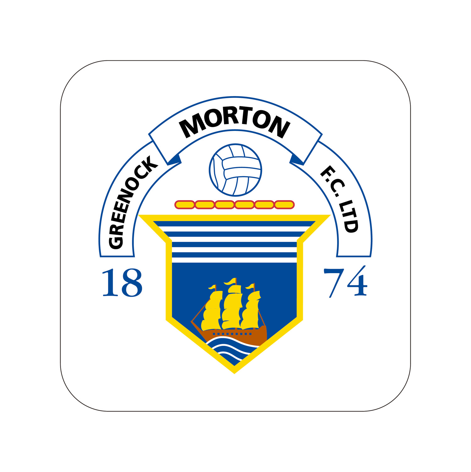 Morton Drinks Coaster (Club Crest)