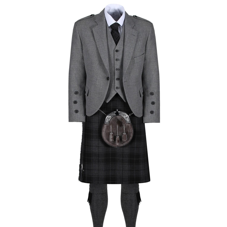 Grey Isle Kilt with Light Grey Tweed Jacket
