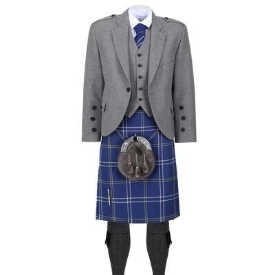 Morton Kilt with Light Grey Tweed Jacket