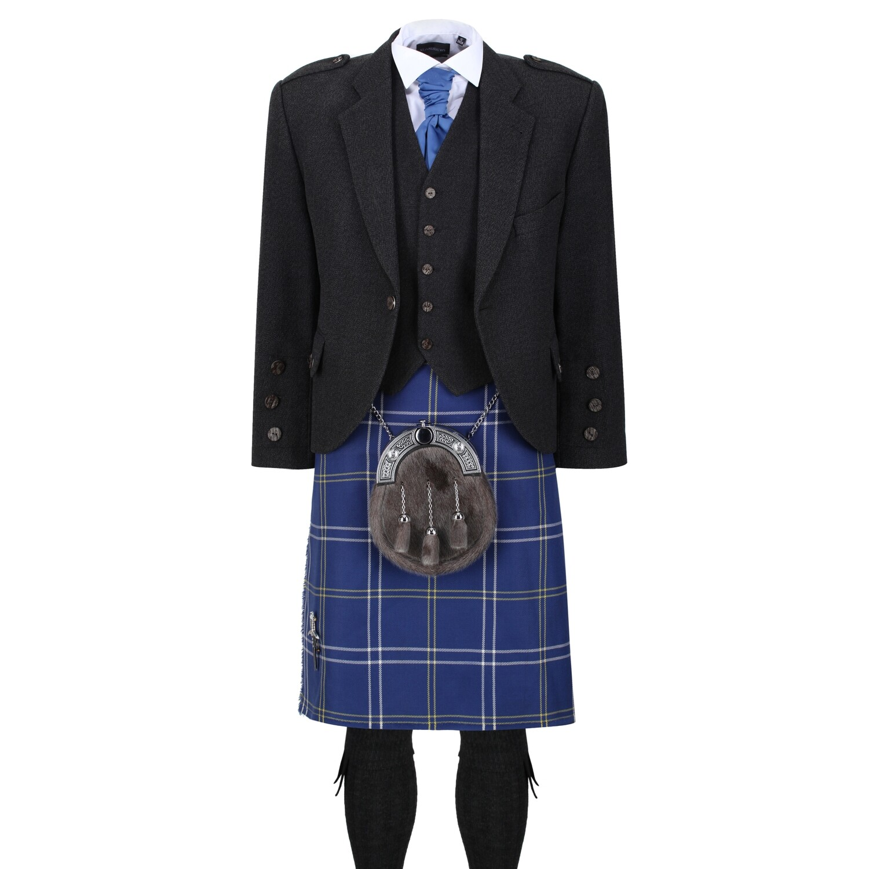 Morton Kilt with Dark Grey Tweed Jacket