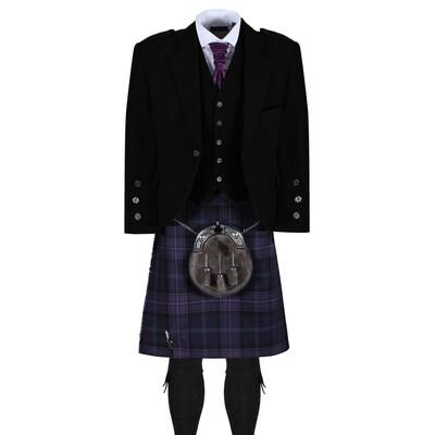 Scottish Thistle Kilt with Black Jacket