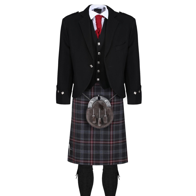 Hebridean Heather Kilt with Black Jacket