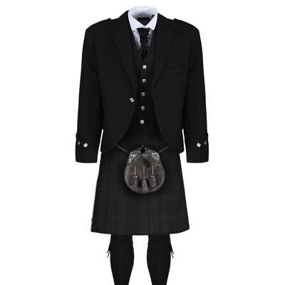 Black Isle Kilt with Black Jacket