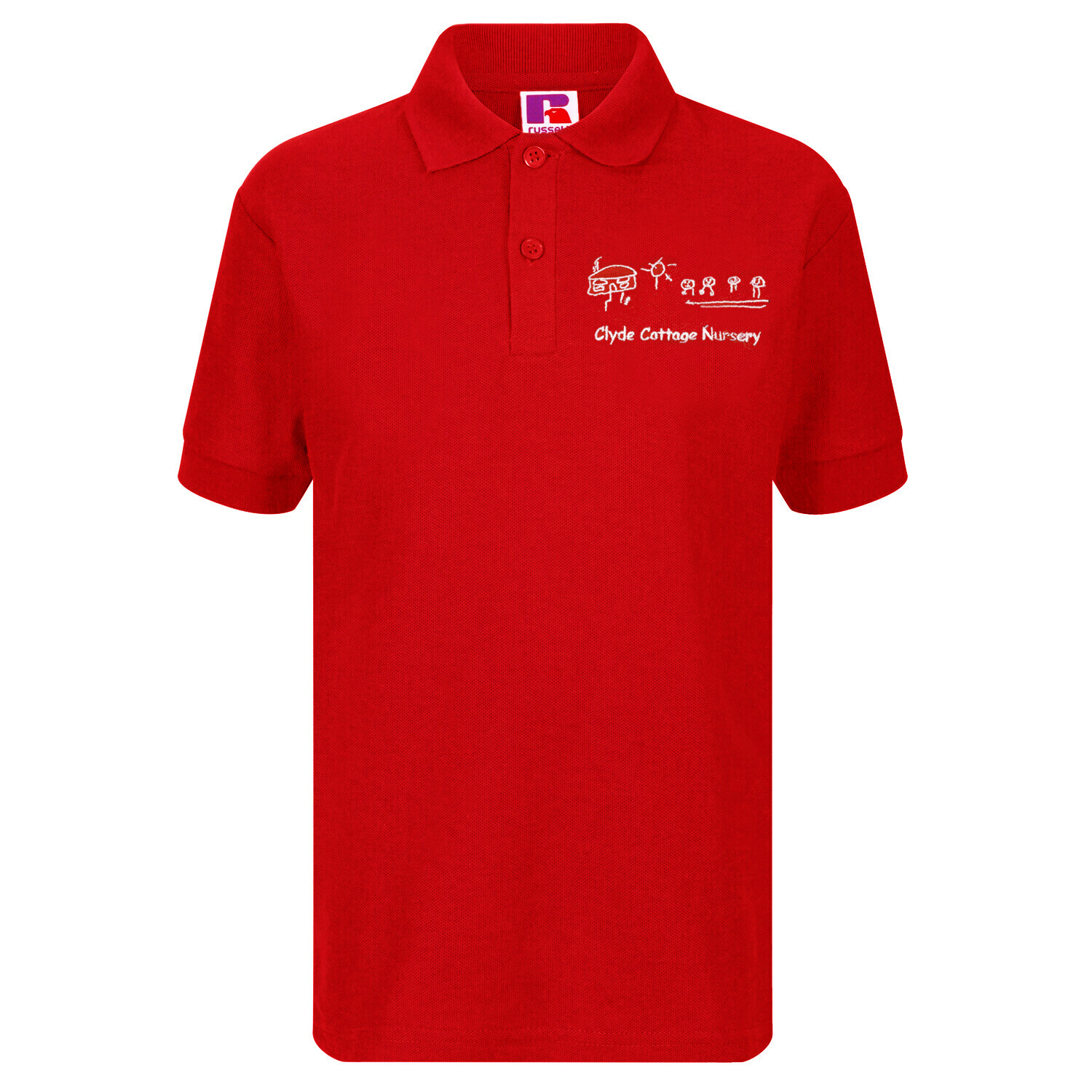 Clyde Cottage Nursery Poloshirt (In Red or Navy)