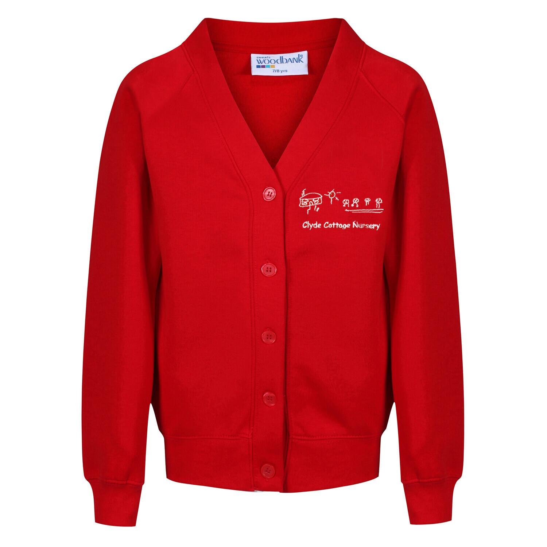 Clyde Cottage Nursery Sweatshirt Cardigan (In Red or Navy)