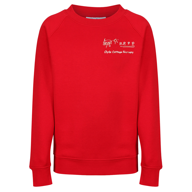 Clyde Cottage Nursery Sweatshirt (In Red or Navy)