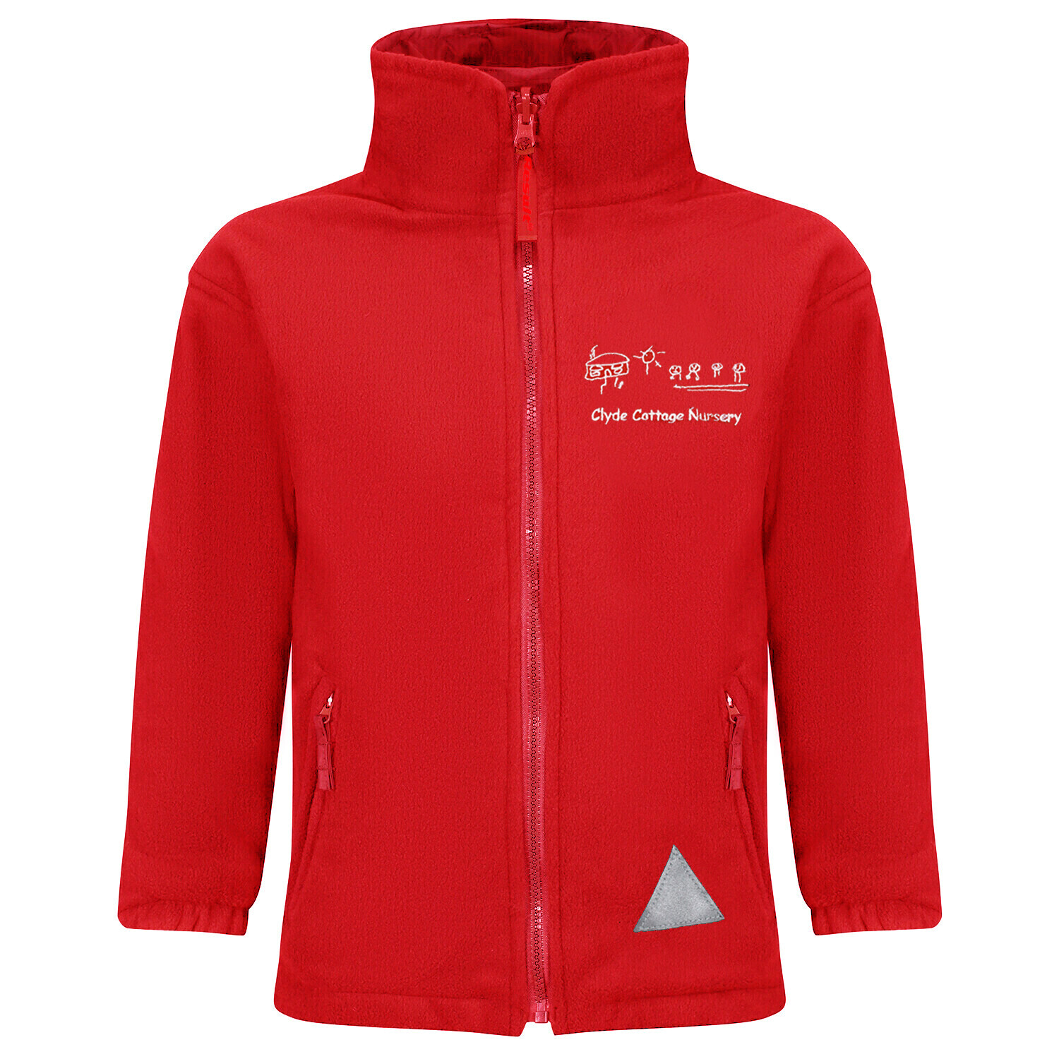 Clyde Cottage Nursery Fleece (RCSRS36) (In Red or Navy)