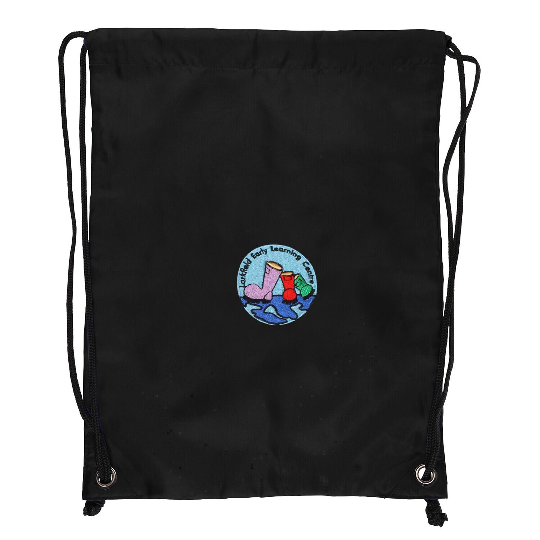 Larkfield ELC Nursery Gym Bag (In Black)