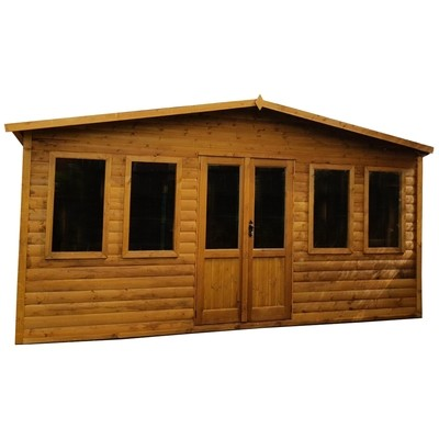 Insulated East Lodge Summer House (16x12')