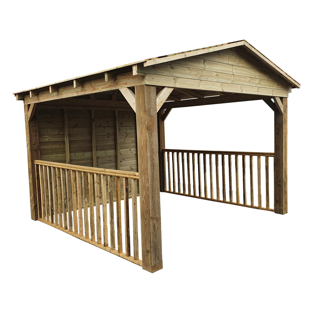 Timber Gazebo with apex roof (3x4m)