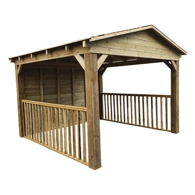 Timber Gazebo with apex roof (3x3.6m)