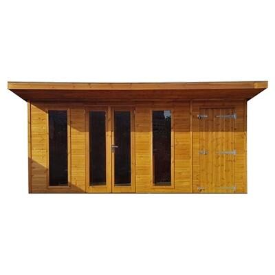 Insulated Hardwick Summerhouse + shed combo (18x10')