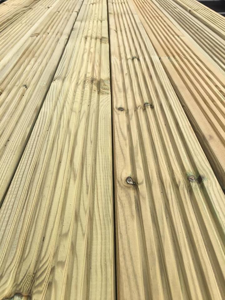 3.6m (lengths) Tanalised Decking (120x28mm)