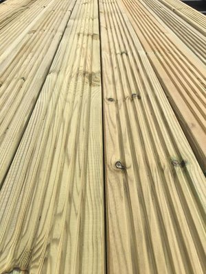 3.6m (lengths) Tanalised Decking (120x28mm)