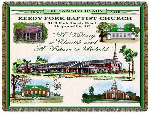 Church Anniversary Tapestry Throw