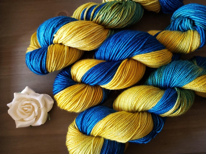 Starry Night Hand Dyed Yarn