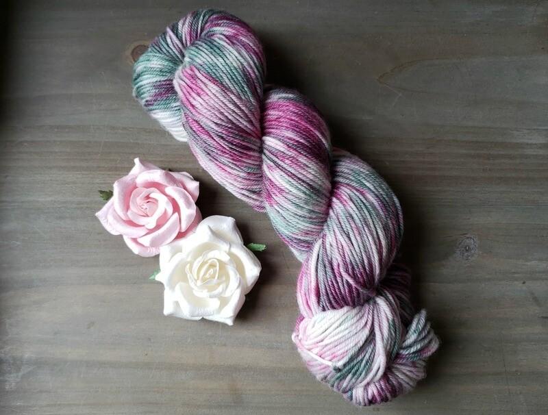 Blushing Sage (DK) Hand Dyed Yarn