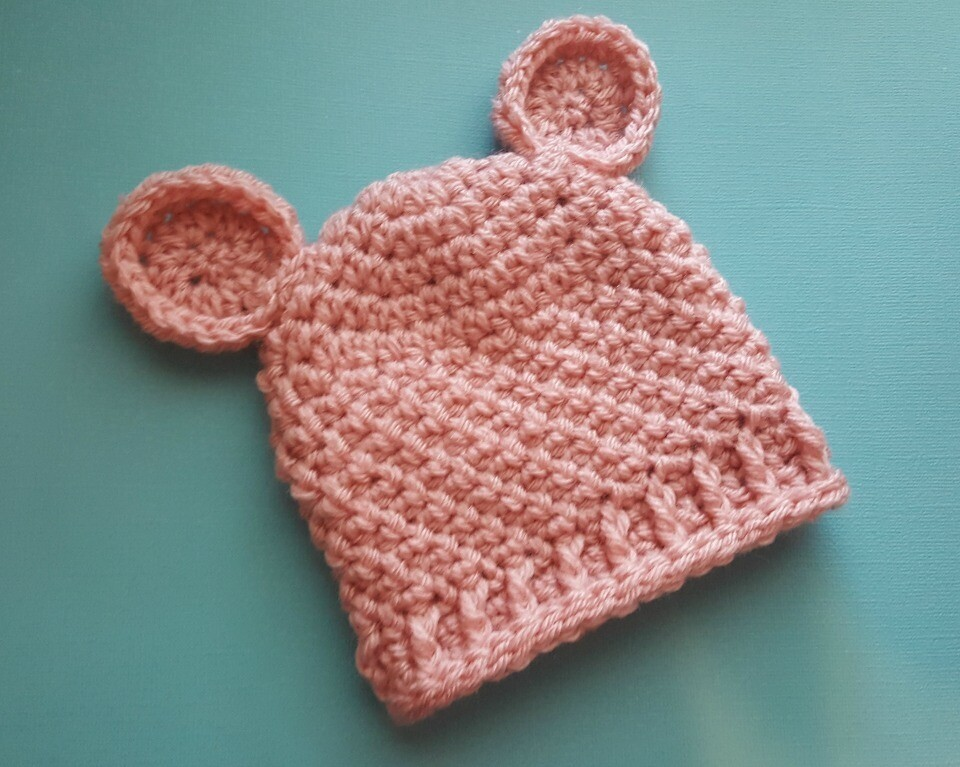 Cuddle Bear Beanie Crochet Pattern