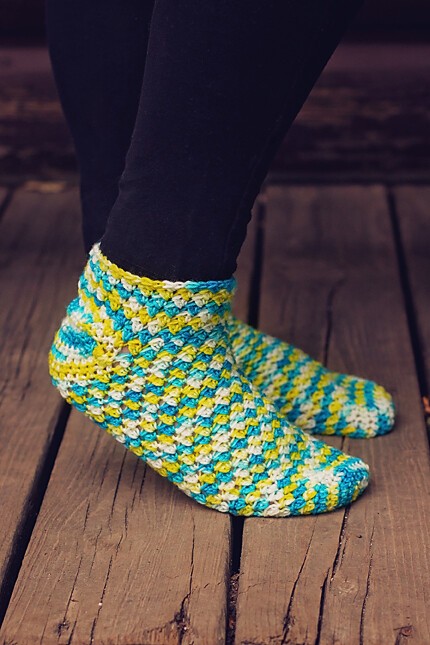 Fun in the Sun Socks Crochet Pattern