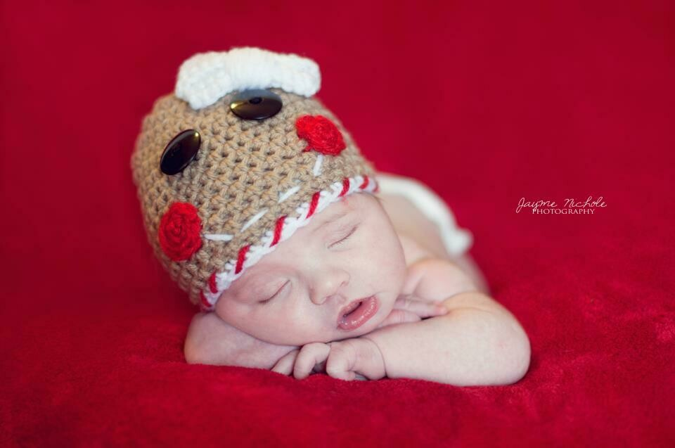Gingerbread Beanie Crochet Pattern