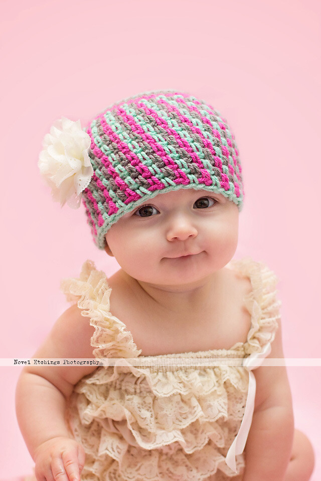 Jelly Bean Beanie Crochet Pattern