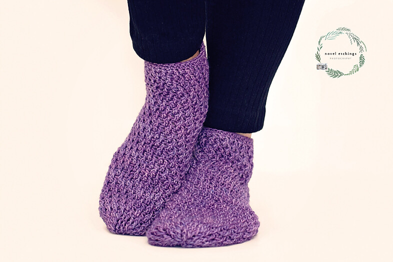 Lilac Socks Crochet Pattern