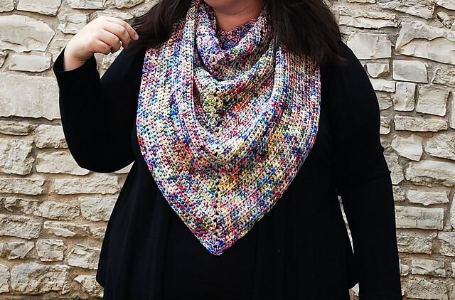 Simplicity Triangle Shawl Crochet Pattern