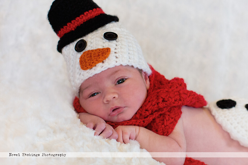 Snowman Beanie Crochet Pattern