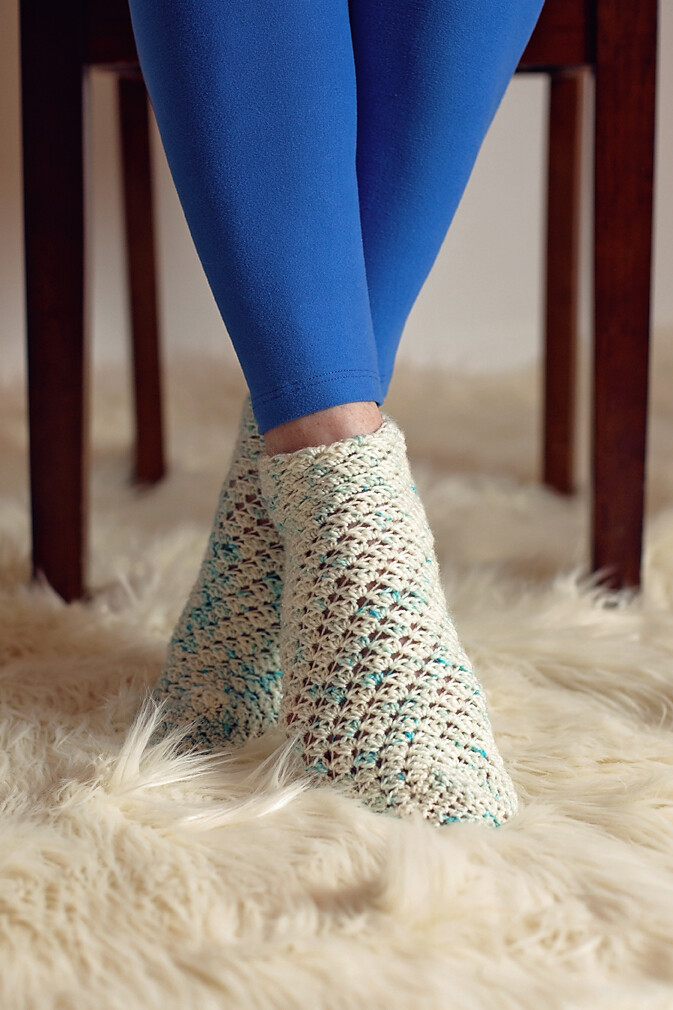 Sparkling Socks Crochet Pattern