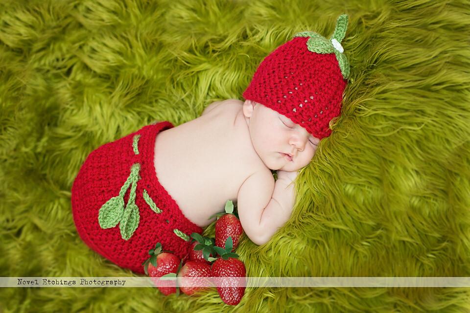 Strawberry Baby Crochet Pattern