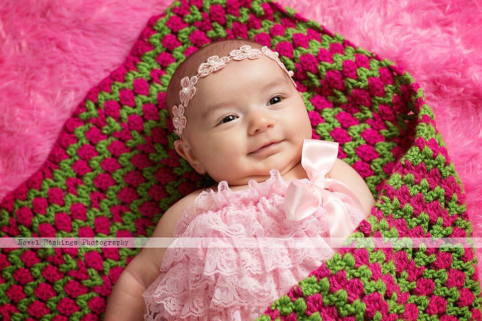 Spring Tulip Chevron Blanket Crochet Pattern