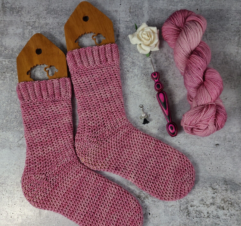 Pretty in Pink Socks Crochet Kit